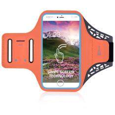 BDD-061Z Fingerprint to Unlock Swipe Screen Sports Armband Case for iPhone 7 6s 6 4.7 inch - Orange