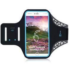 BDD-061Z Fingerprint to Unlock Ultra-thin Sports Armband Case for iPhone 7 6s 6 4.7 inch - Black