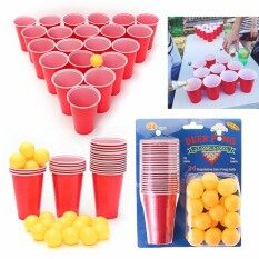 Beer Pong Pub Party Fun Drinking Game 24 450ml Cups And 24 Ping Pong Balls By Qiaosha.