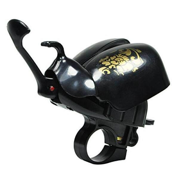 Beetle Bentuk Sepeda Lonceng Lingkaran Sepeda Ride Klakson Alarm (Hitam)-Internasional