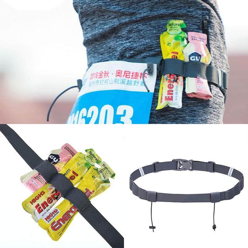 XKP Sports Triathlon Marathon Running Race Number Waist Belt Energy Gel Holder@ - intl