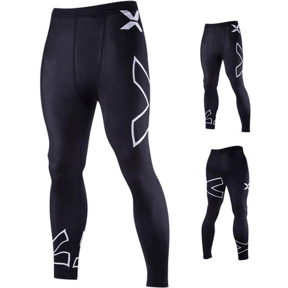 XKP Big Family Man X Letter Stretch Tight Pants Leggings Legwear Bottoms Slim Cotton Polyester -