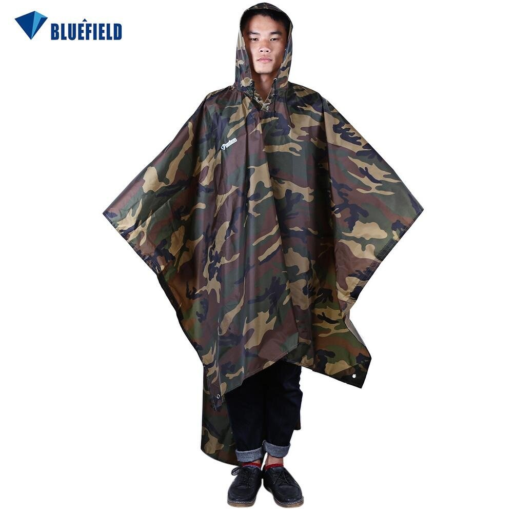 Jas Hujan Multifungsi Soldier Outdoor Waterproof Raincoat Camouflage Ponco Multi Fungsi Bahan 210t Naturehike Nh17d002 M Gunung Hiking Camping Bluefield 3 In 1 Multifunction Packable Poncho Army Green