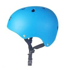 Qimiao Khusus Sepeda BMX dan Skateboard Sport Helm Bersepeda Sepeda Helm Benturan 2 Ukuran untuk Dewasa dan Anak-anak Warna: biru S (Qimiao)