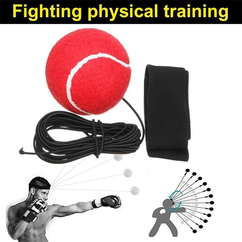 Tinju Punch Latihan Melawan Bola dengan Kepala Band untuk Reflex Kecepatan Pelatihan Tinju-Intl