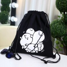 Bunny Drawstring Backpack Female Canvas Simple Student Bags Men Sports  Small Bags Drawstring Shoulder Bag 1fb4ed89c9b87