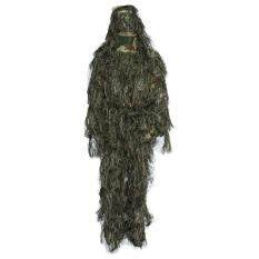 Camouflage Jungle Hunting Ghillie Suit Set Woodland Sniper Birdwatching Poncho (jungle Camouflage) By Aa Online.