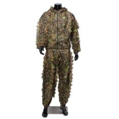 Camouflage Suit Woodland Leafy Clothing Outdoor Hunting Shooting By Freebang.