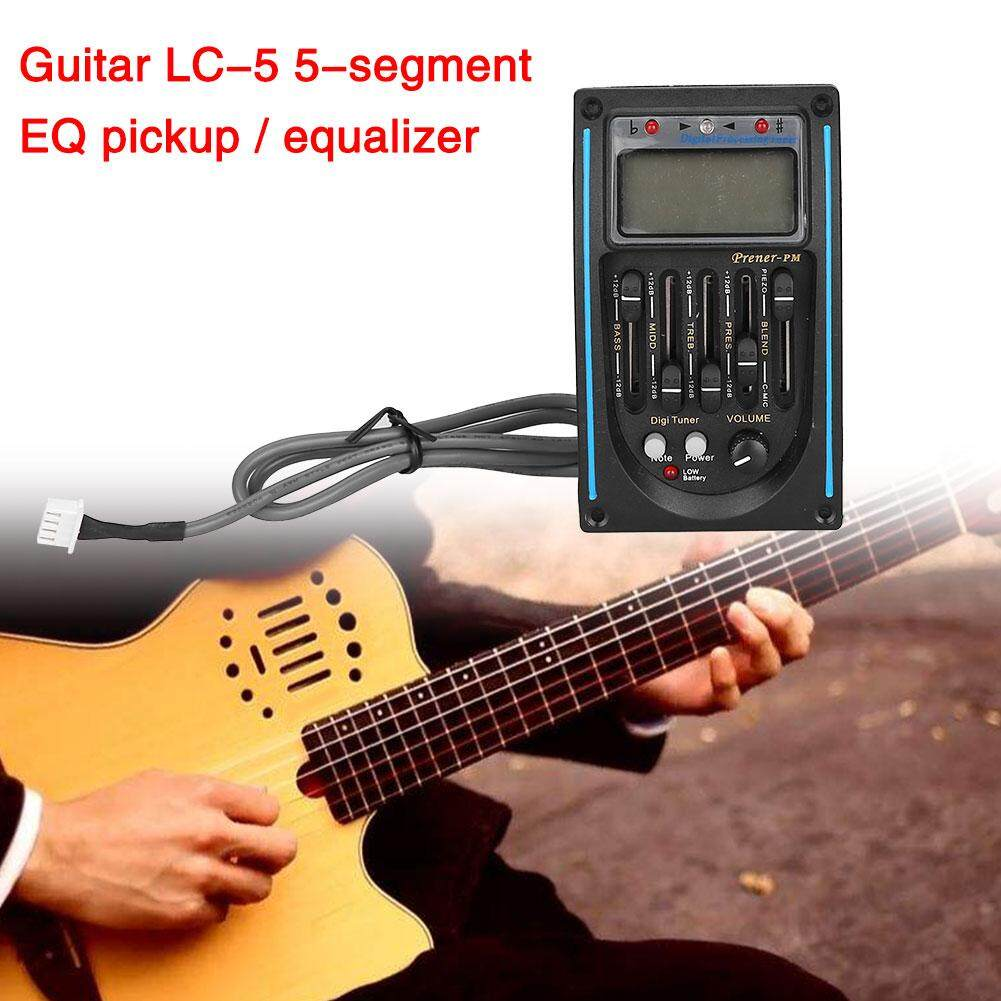 VND 239.000. Arctic Land 5-Band Guitar Preamp EQ Equalizer Blue LCD Piezo Pickup Tuner Device Accessories - intlVND239000