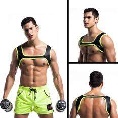 Cenita-Man Fashion Neoprene Fit Sports Shoulder Strap Strong Muscle Chest Harness Top By Cenita.