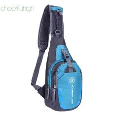 [cheerfulhigh]chest Bag Outdoor Sport Travel Shoulder Sling Backpack Pouch(blue)(black)(black) By Cheerfulhigh.