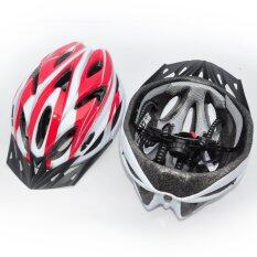 Comfortable Cycling Helmet (red/white) By Stonbike.