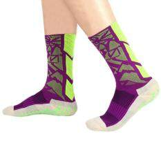 Hình ảnh Comfortable Soccer Socks Anti Slip Mid-calf Cotton Team Sports Fitness Equipment