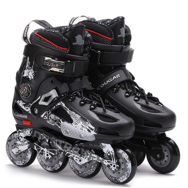 Cougar MZS507 Pro Roller Style Inline Skate Outdoor Sport Shoes(Black)  (Intl) 66ddb218c2