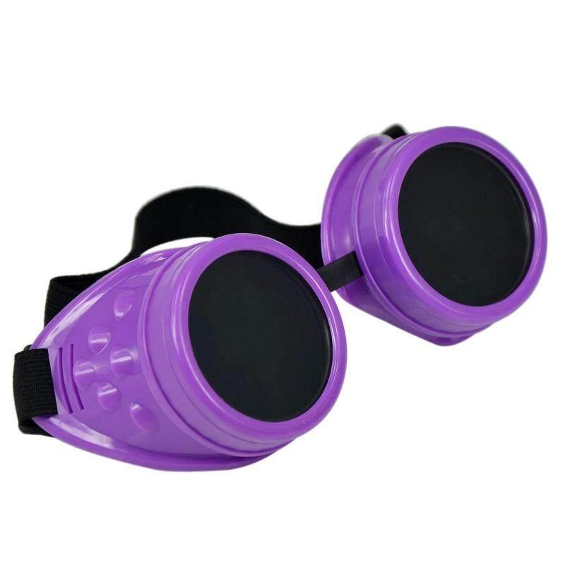 Cyber Goggles Steampunk Welding Goth Cosplay Vintage Goggles Rusti (Purple/Black) (Intl)