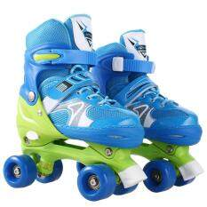 Cyber Top Sale New Unisex Pp And Pvc Wheel Indoor Outdoor Roller Children Tracer Adjustable Double Row Skate By Happydeal365.