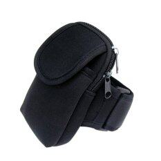 Cycling Sports Running Cell Phone Arm Band Bag Wrist Pouch Key Package Black By A-Liname.