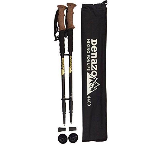Denazo Di Luar Rumah-Tahan Kejut/Semua Medan/Semua Kondisi/Hiking/Berjalan/Tongkat Trekking-Pack Of 2 plus Bonus Membawa CAS
