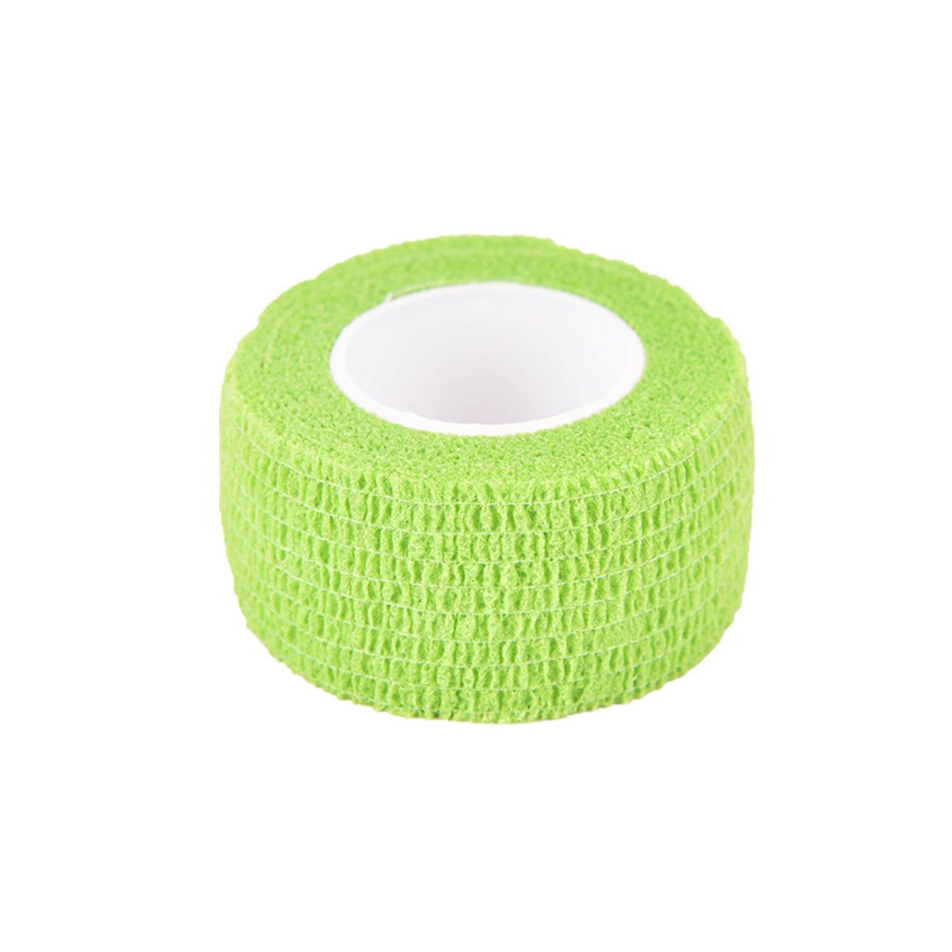 Disposable Self-Adhesive Elastic Bandage For Handle Grip Tube Tattoo Accessories Grass Green - intl