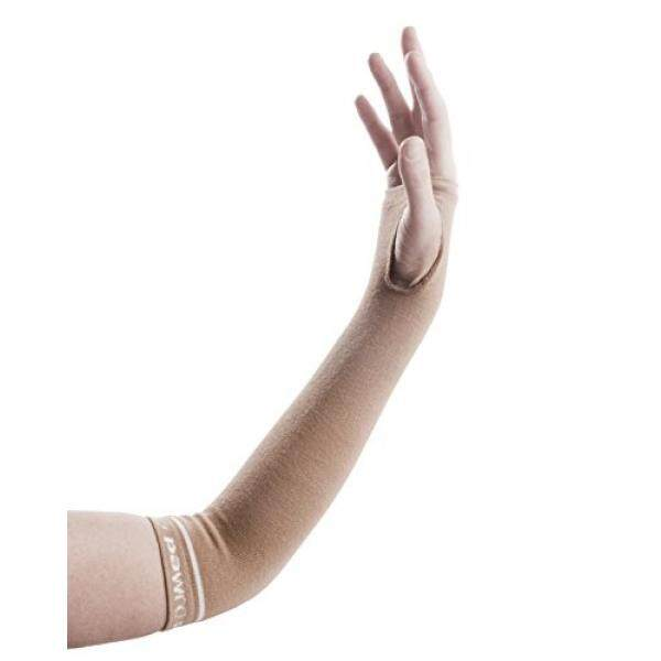 DJMed Arm Skin Protectors – Protective Arm Sleeves, For Sensitive Skin, Help Protect From Tears & Bruising – Pair, Tan - intl