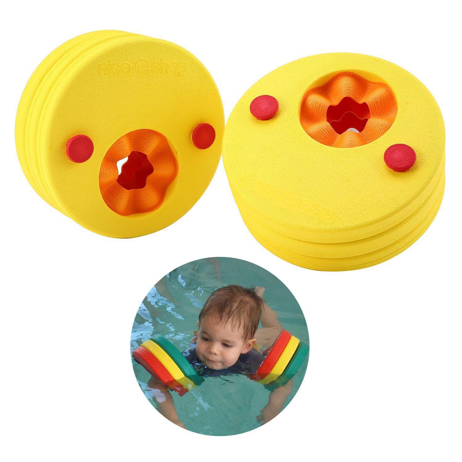 dmscs 6Pcs Kids Float Discs Swim Arm Band Swimming Pool Learn To Swim Aqua Water Float Set