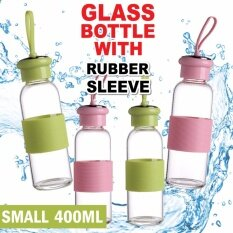 Drinking Glass Water Bottle Silicone Sleeve Eco-Friendly (small) By Scarlett Electrical.