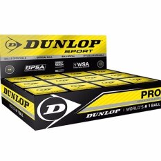 Dunlop Pro Squash Ball (double Yellow Dot) By Olympic Sports.