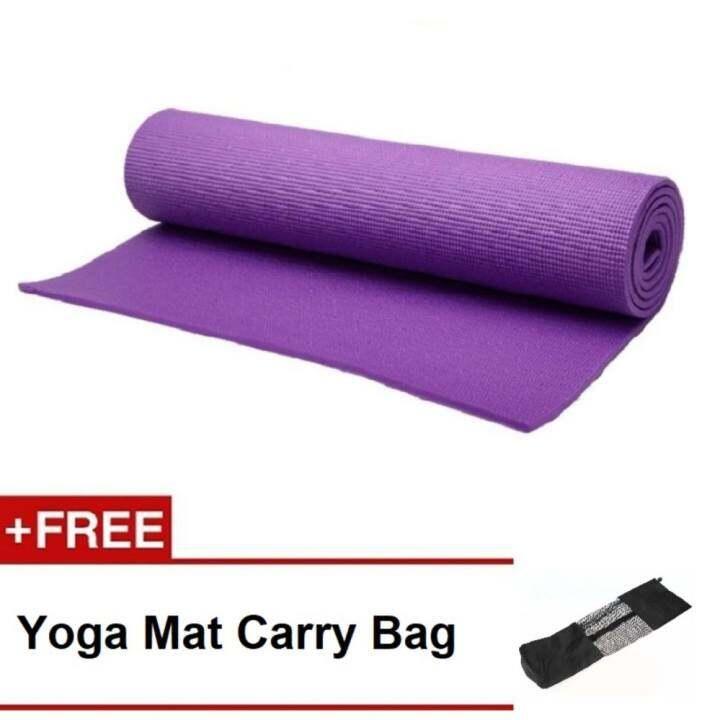 EcoSport Durable 6MM PVC Yoga Mat (Purple) + Yoga Mat