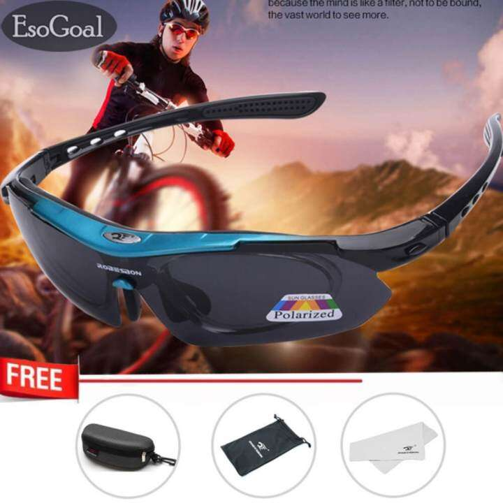 EsoGoal Polarize Sports Cycling Sunglasses for Men Women Cycling Riding Running Glasses