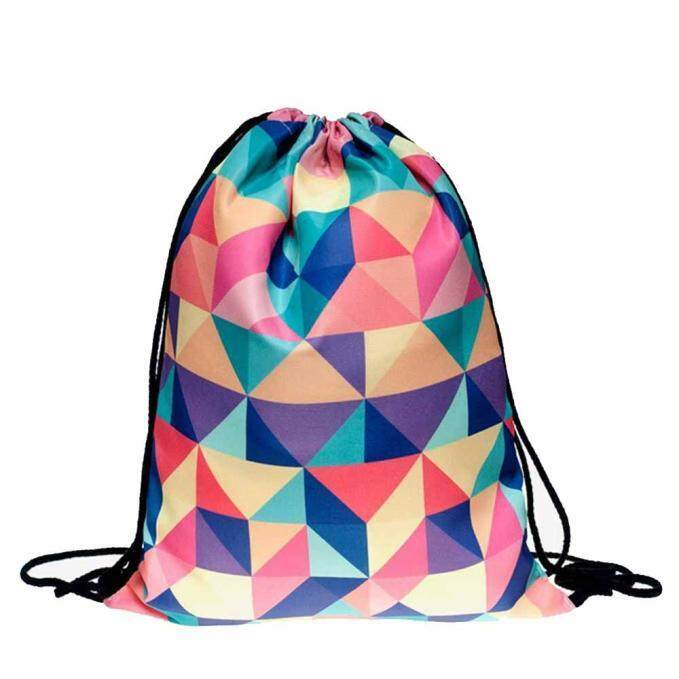 Fashion Unisex Emoji Backpacks 3D Printing Bags Drawstring Backpack