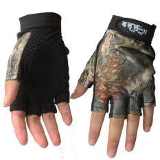 Fingerless Gloves Breathable Antiskid Fishing Gloves Outdoor Waterproof Sun Protection Gloves By Danlong Store.
