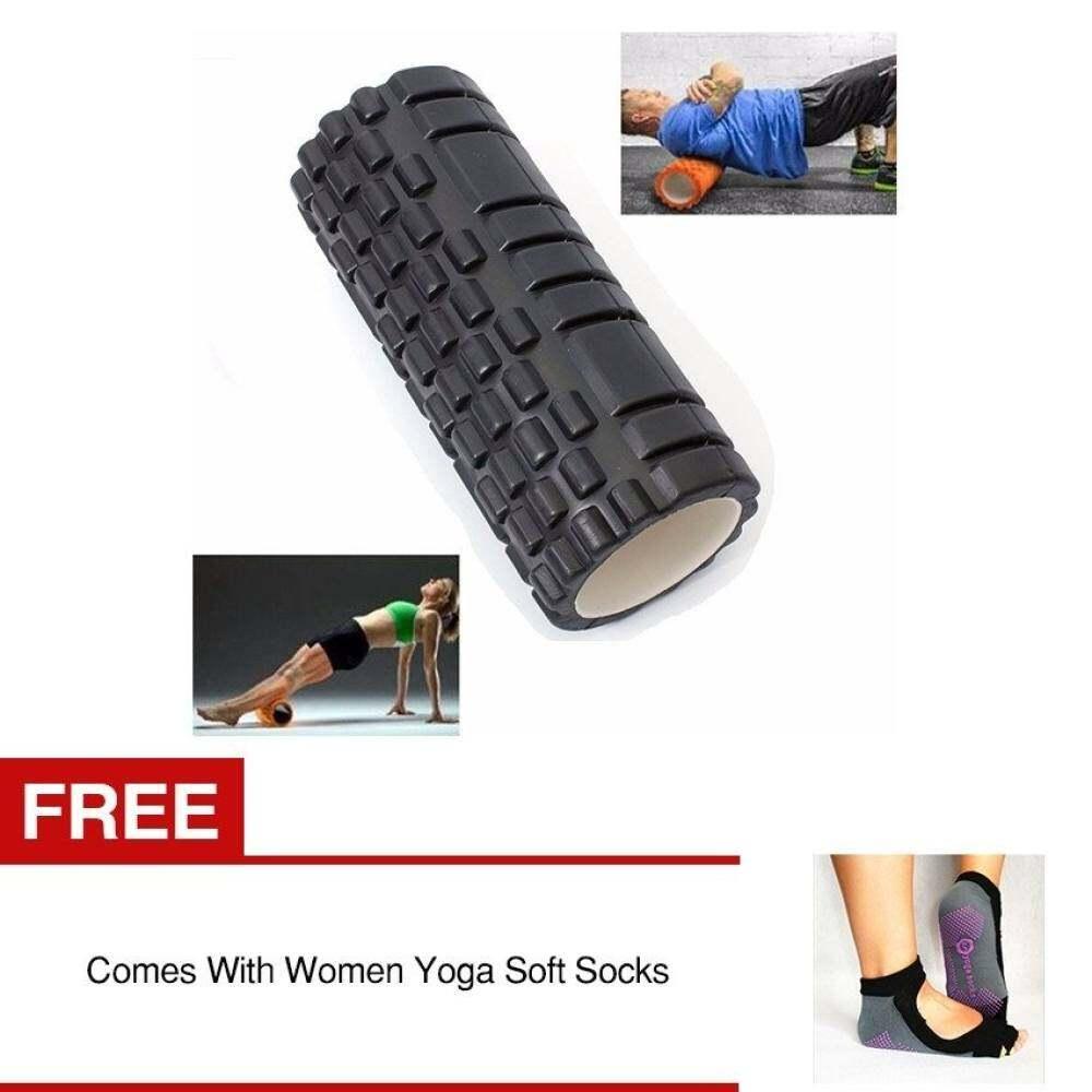 Pusat Langsung Roller Busa Titik Pemicu Bertekstur Yoga Pijat Tabel Hitam Beli 1 Gratis 1 Wanita Yoga Kaus Kaki Lembut