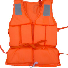 Flood Foam Swimming Life Jacket Vest + Whistle Orange – intl