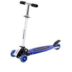 Foldable And Adjustable Flash Wheels Kid Scooter - Blue By Advanced Online Express.