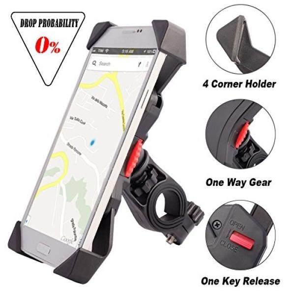 [Dari. amerika Serikat] Sepeda Gunung untuk Ponsel Anti Goyang Cegah Jatuh Setang Sepeda Telepon Seluler Pemegang Klem Stang dengan Berputar 360 untuk 3.5-6.5 inch iPhone Android Smartphone Gps Perangkat Lain (Universal) b06Y1X3JD3-Intl