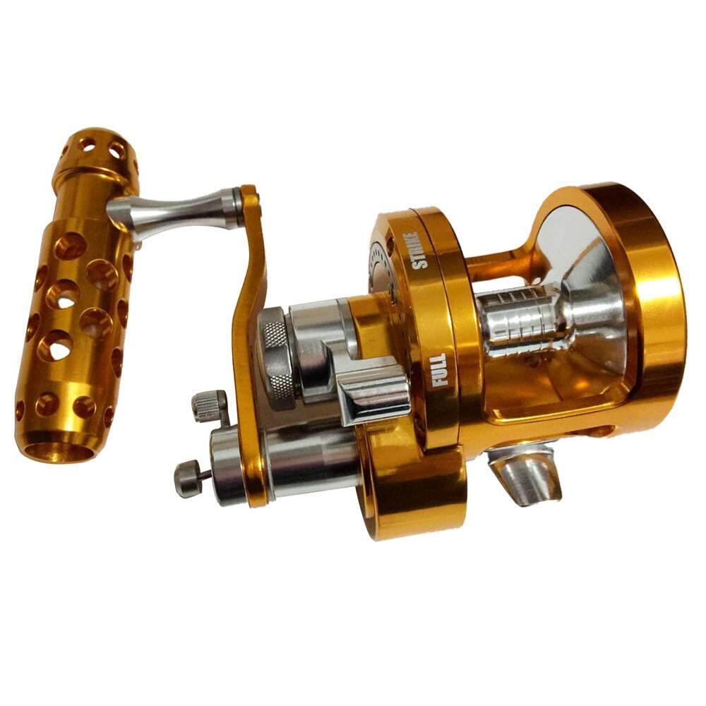 Full Metal Gulungan Putar Kecepatan Ganda Penggulung Tali Pancing 30kgs Power Drag Dalam Air Asin Laut Boat Reel SYD90 4.5: 1 2.1: 1 Kanan-Intl