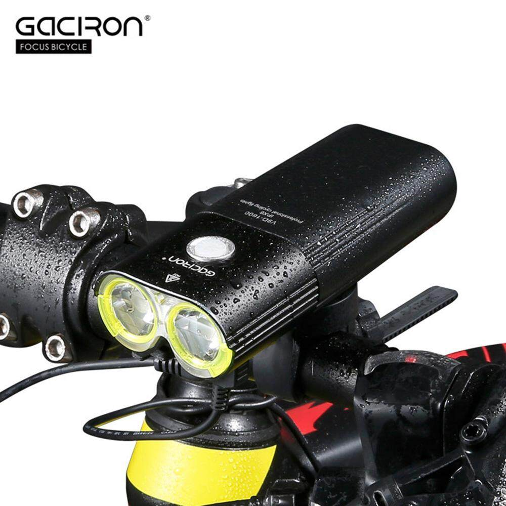 Gaciron V9D 1600 Usb Rechargeable Waterproof Bike Cycling Light Bicycle Front Flashlight With Remote Switch Intl Promo Code