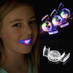 Glow Tooth Fangs Light Up Mouthpiece Led Mouth Guard Flashing Teeth For Carnival By Costel.