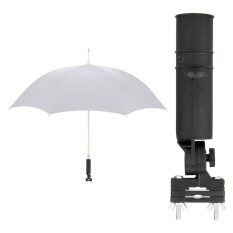 Golf Club Fit Cart Car Trolley Pushchairs Umbrella Holder Black Durable By Aokago.