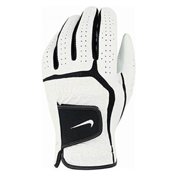 나이키 Golf Mens Dura Feel VI - Junior Left Hand Regular Glove (White/Black, Medium) - intl