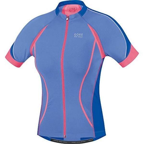 Gore Pakaian Sepeda Wanita Oksigen Wanita Penuh Jersey Risleting, M, Badai Salju Biru/Brilian Biru-Intl