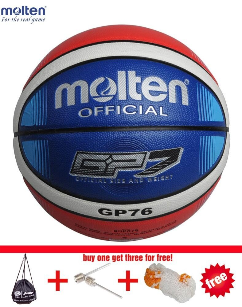 Gp76 Basketball Ball Pu Materia Official Size7 Basketball Indoor And Outdoor Ball Training Equipment Free With Net + Bag And Needle () By Enjoy House.