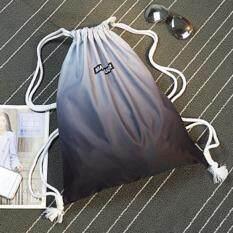 Gradient Waterproof Bag Drawstring Bag Shoulder Bag Men   Women Simple Eco Backpack  Fitness Bag 682e01dc69409