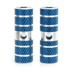 Grandmise 2 x BMX Mountain Bike Bicycle Axle Pedal Alloy Foot Stunt Pegs Cylinder Blue