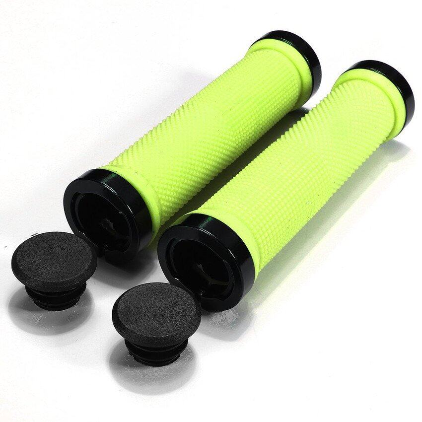 HDL Pair Cycling Lock-on locking Handle Grips For Bicycle MTB BMX Bike Handlebar Green - intl