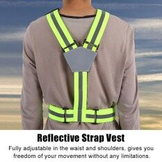 High Visible Reflective Strap Vest For Safety Running Walking Jogging Cycling By Highfly.