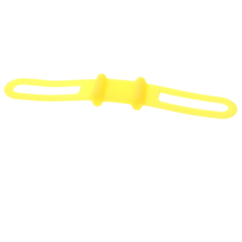HKS Bike Silicone Rubber Bicycle Parts Yellow Holder Mount Tie Strap Bandage - intl