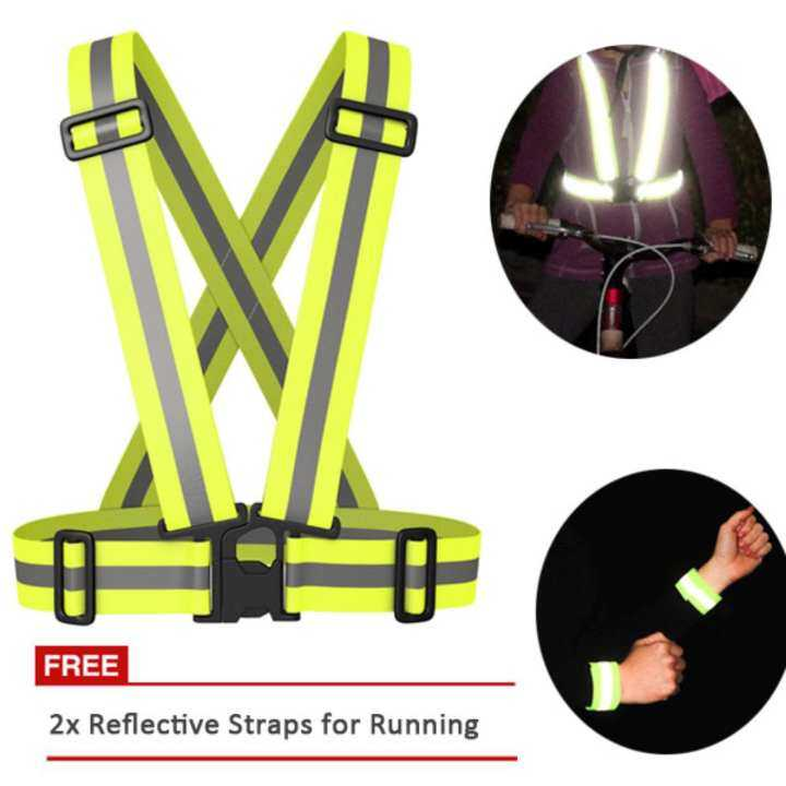 HOLA Outdoor Sport Running Cycling Safety Luminous Reflective Clothing Belt[Buy 1 get 2 Wristband]