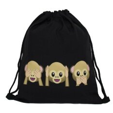 Hot Fashion Men s Women s Print Shoulder Folding Drawstring String Bag  Backpack School Rucksack Gym Sport Handbag e3c5976eed22b