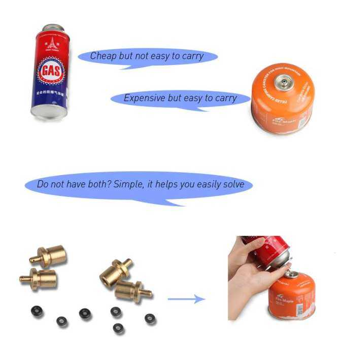 Jeebel Gas Refill Adapter for Outdoor Camping Stove Gas Cylinder Gas Tank Gas Burner Accessories Hiking